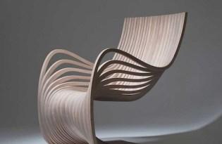 [家具設計]裸空曲線椅「pipo chair」