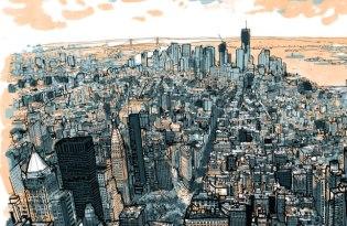 [平面設計]城市地圖素描插畫藝術