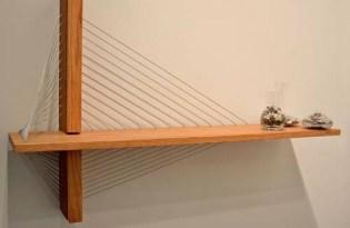 [家具設計]鋼索橋梁書架