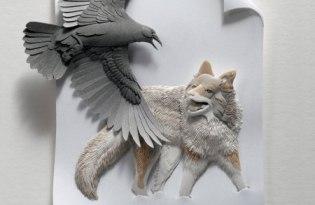 [設計工藝]3D立體紙雕藝術