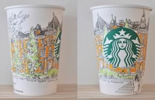 [圖文插畫]東京設計「紙杯平面視覺藝術」