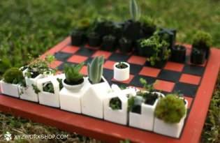 [產品設計]3D列印多肉植物西洋棋盤