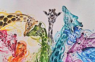 [平面設計]印度出品「動物水彩畫藝術」