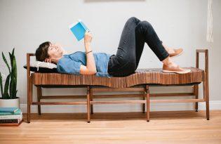 [家具設計]Block Bench Armed軟式木頭床