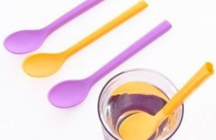 [餐具設計]改良式吸管湯匙組