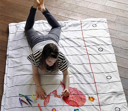[寢具設計]Doodle Cotton繪畫床單