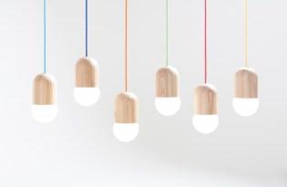 [燈具設計]莫斯科出品「light bean木作燈罩」