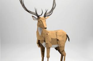 [工藝設計]3D幾何立體摺紙藝術