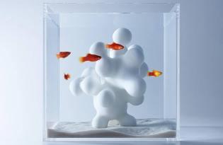[水族設計]日本出品「3D列印極簡魚缸造景」