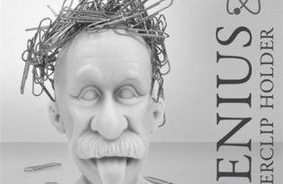 [文具設計]愛因斯坦迴紋針座