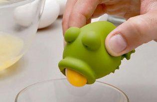 [廚具設計]大嘴青蛙分蛋器