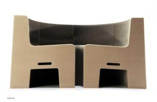 [家具設計]台灣出品「FlexibleLove瓦楞紙伸縮椅」