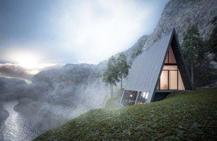 [建築設計]Matthias Arndt懸崖三角住宅