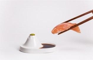 [餐具設計]富士山醬油碟
