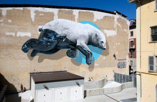 [插畫設計]瑞典出品「3D城市美學壁畫藝術」
