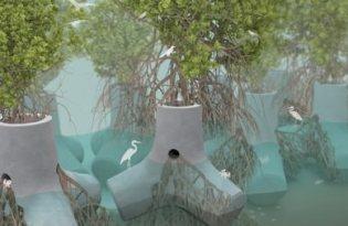 [創新設計]TetraPOT植物防波塊
