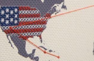[文創設計]SuckUK旅行縫製地圖