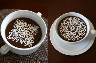 [創意行銷]BIZEdessert蕾絲咖啡視覺藝術