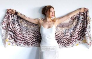 [服飾設計]澳洲出品「優雅鳥翅膀披肩」