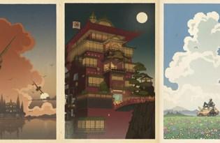 [插畫設計]美國出品「宮崎駿浮世繪藝術」