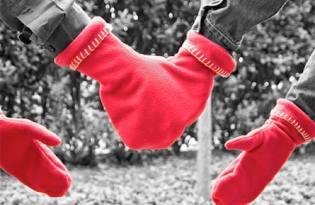 [產品設計]情侶愛心保暖手套