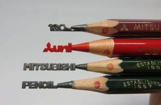 [工藝設計]Drawing Pencil 鉛筆芯雕刻藝術