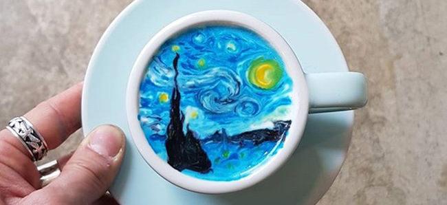[平面設計]咖啡拉花視覺傳達藝術