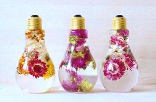 [設計工藝]鮮花燈泡裝置藝術