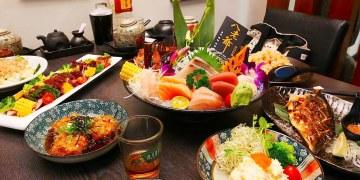 (台南。安南區美食)八老爺吃飽喝足日式家庭料理:平價的日本料理,壽司炒物烤炸通通有!大推炸大蝦壽司&揚出豆腐&30元的魚肉味噌湯,料多實在滿出來!