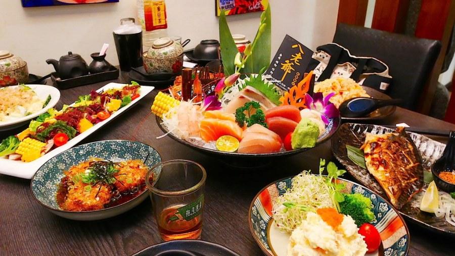 (台南。安南區美食)八老爺吃飽喝足日式家庭料理:平價的日本料理,壽司炒物烤炸通通有!大推炸大蝦壽司&揚出豆腐&30元的魚肉味噌湯,料多實在滿出來!(已歇業)