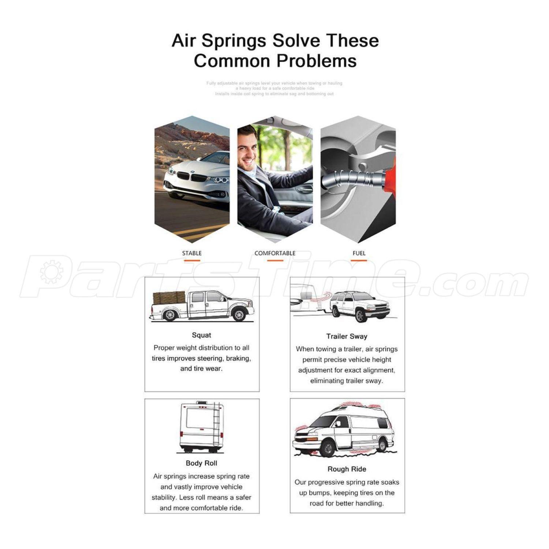 Rear Air Ride Suspension Spring Shocks For 90 11 Lincoln Town Car