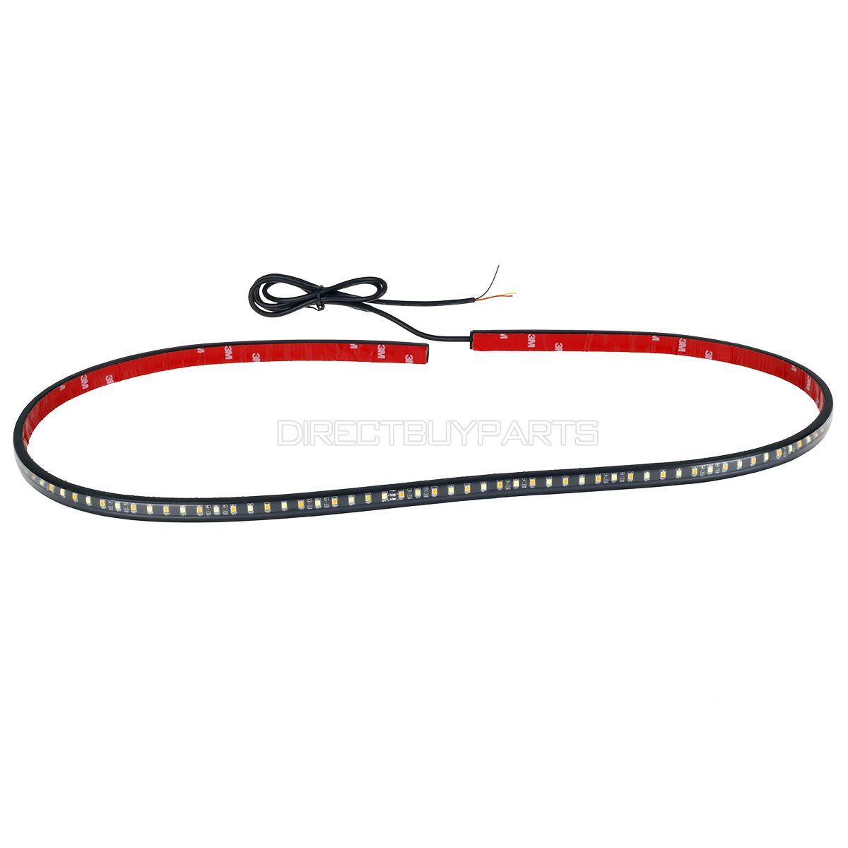 Running Board Step Bar Led Light Kit 48 Long 60 Amber 60 White 12v