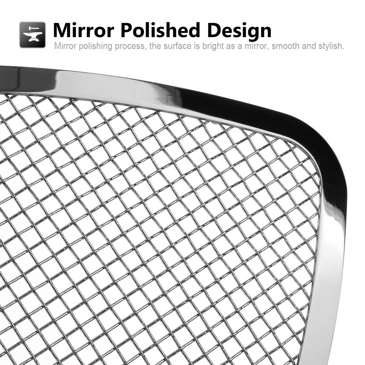 Chrome S S Mesh Grille Grill Insert 1 8mm Wire Fits