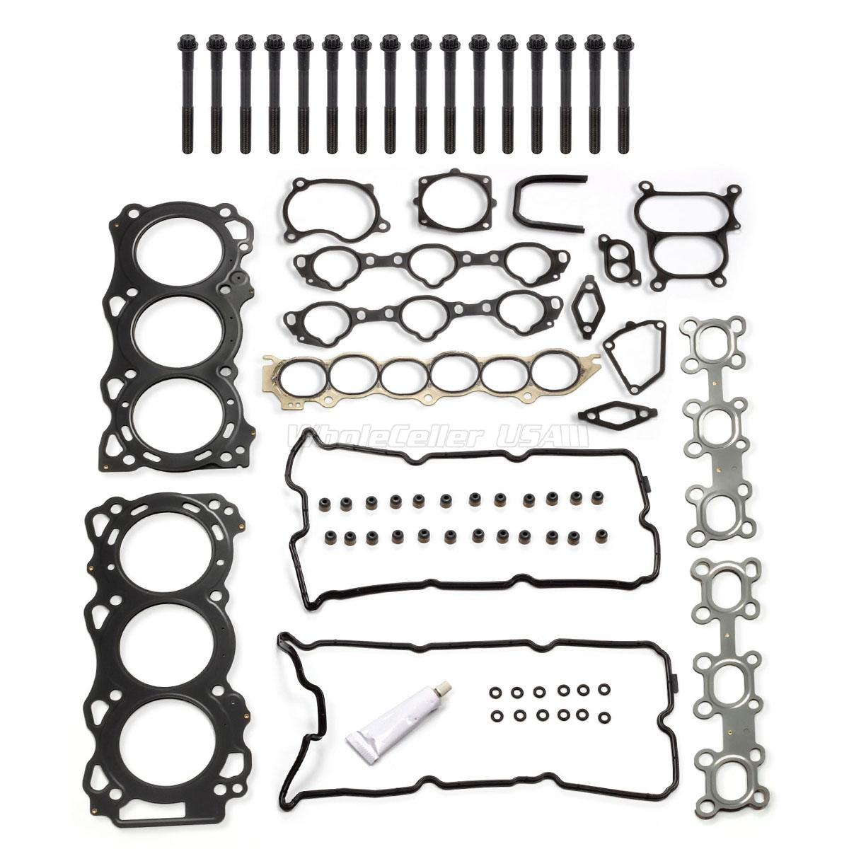 Cylinder Head Gasket Bolts Kit For Nissan Altima Maxima 02