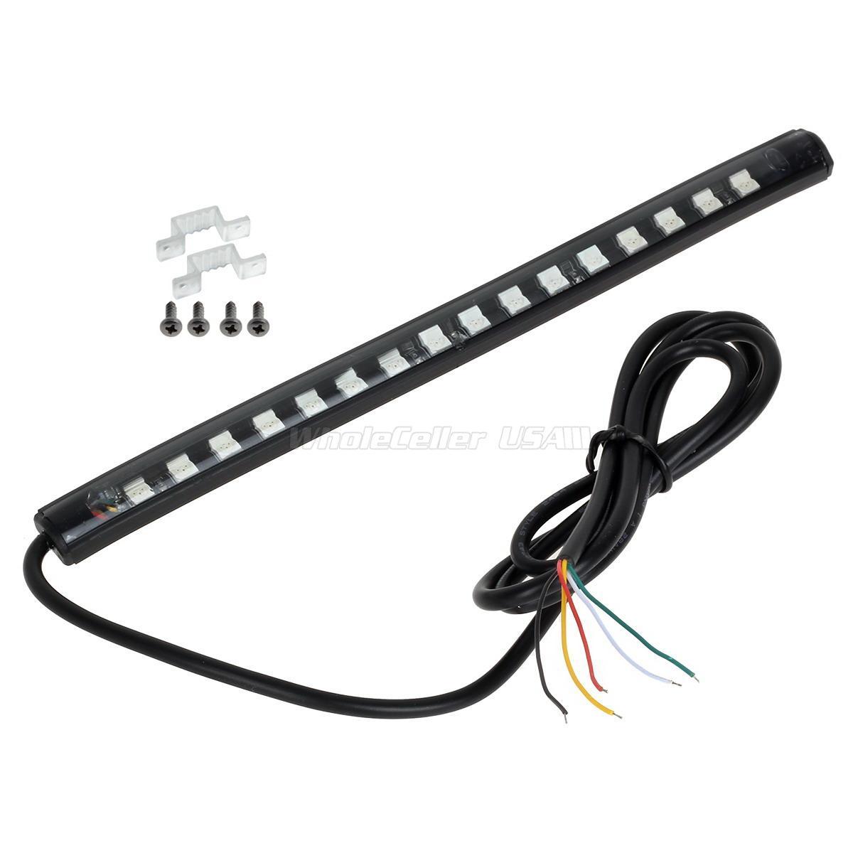 20cm Integrated Tail Brake Amp Turn Signal Led Light Strip