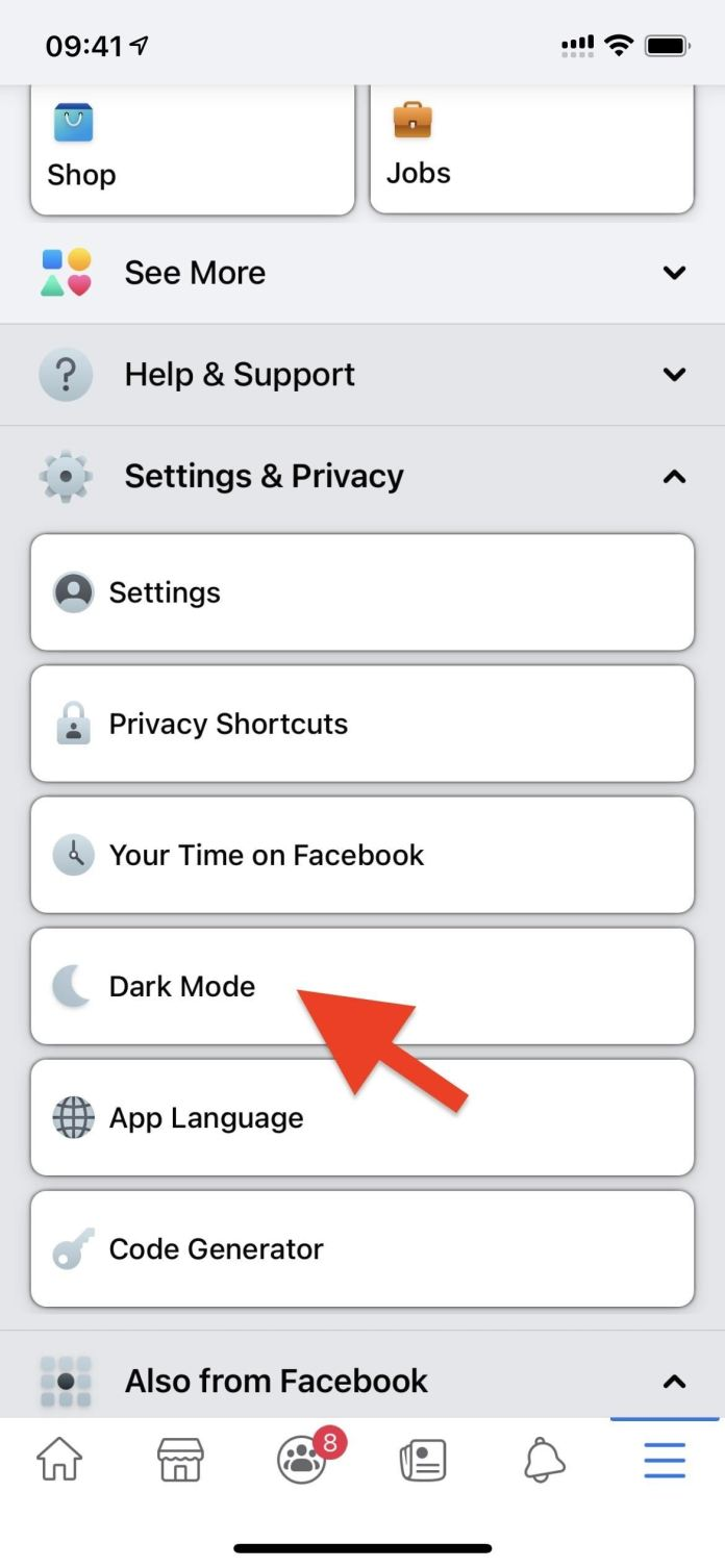How To Enable Dark Mode In Facebook S Ios Android Apps Smartphones Gadget Hacks