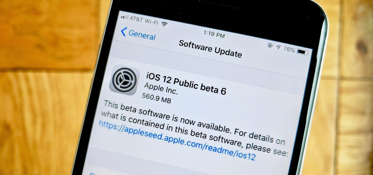 iOS 12 Public Beta 6 Released to Apple Software Testers      iOS     iOS 12 Public Beta 6 Released to Apple Software Testers