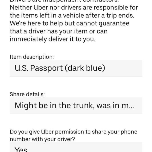 Comment récupérer votre objet perdu chez un chauffeur Uber (et que faire s'il ne répond pas)