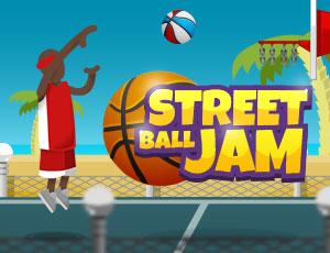 لعبة كرة السلة في الشارع