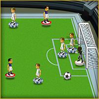 لعبة فريق كرة القدم