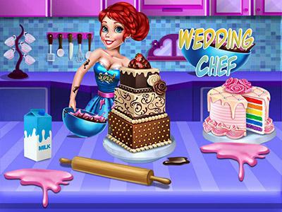 لعبة تزيين كعك الزفاف