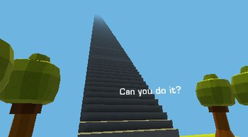 لعبة الوصول الي القمة