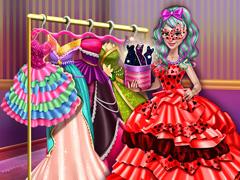 لعبة تلبيس اميرة ملابس المهرجان