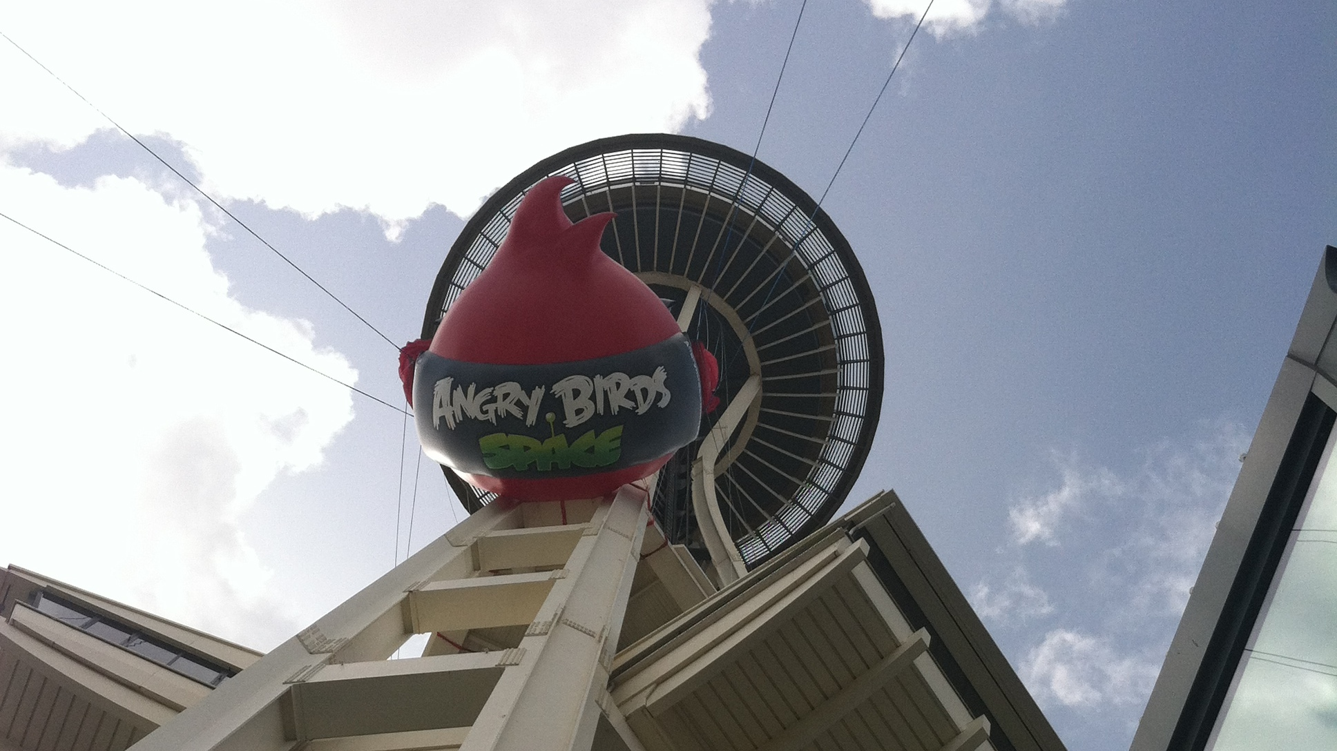 Seattles Space Needle Was Turned Into A Giant Angry Birds