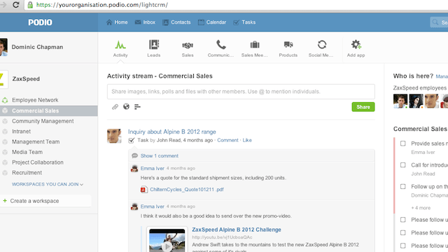 webapps - Podio Makes Managing Multiple Group Projects Free and Easy