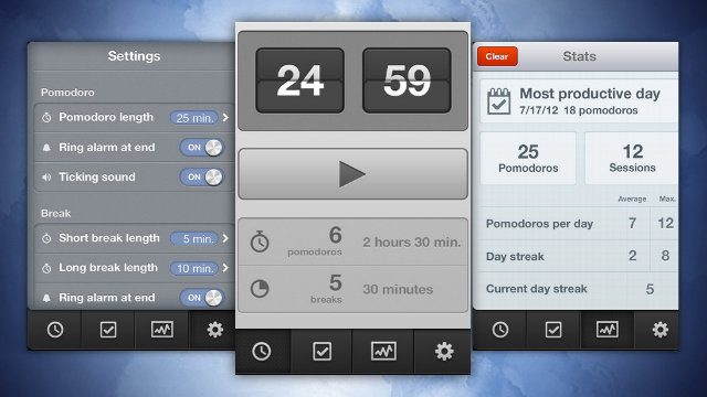 ipad downloads - Promodoro for iPhone Is a Simple, Flexible Pomodoro Timer that Tracks Your Productivity