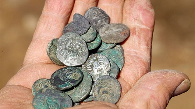 Two men using metal detectors discover hoard of 50,000 Iron Age Celtic coins