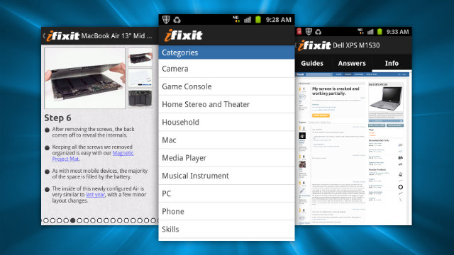 iFixit for Android and iPhone Puts Repair Guides and Troubleshooting Help in Your Pocket