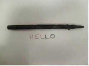 After 25 years trapped in woman's stomach, lost pen still writes