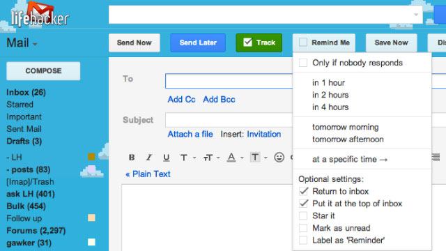 email - RightInbox Adds Reminders to Gmail and Notifies You When Email You Sent Is Read
